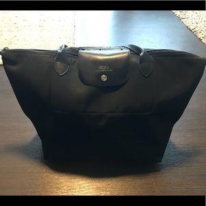 Authentic Black Longchamp tote